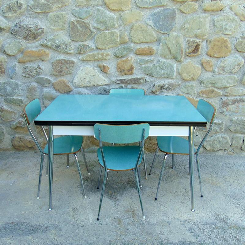 Tavolo Formica Vintage.Tavolo 4 Sedie Formica Vintage Modernariato 1960