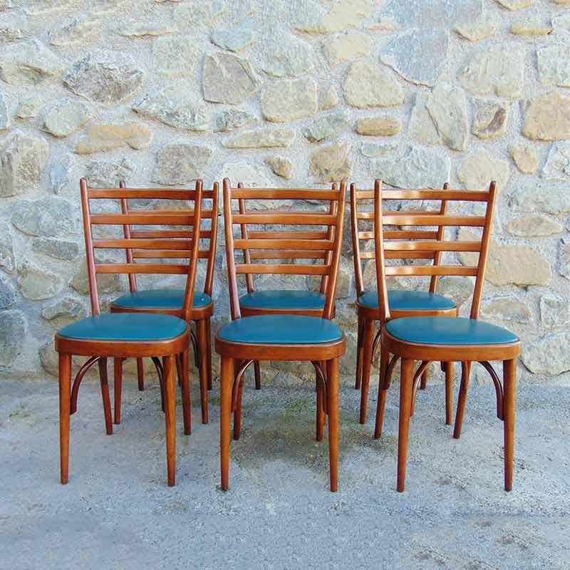 Sei sedie vintage design anni 60 modernariato italia for Sedie vintage design